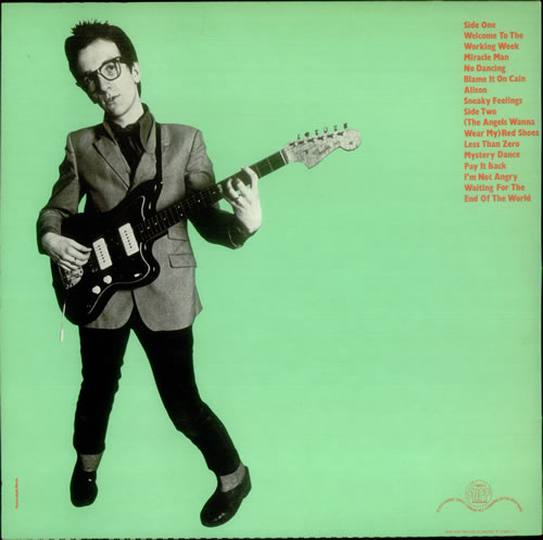 Elvis Costello My Aim Is True - Green Front & Back vinyl LP album (LP record) UK COSLPMY541826