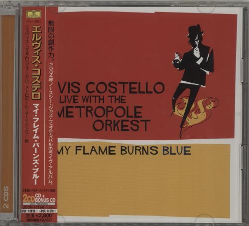 Elvis Costello My Flame Burns Blue + Obi 2 CD album set (Double CD) Japanese COS2CMY686138