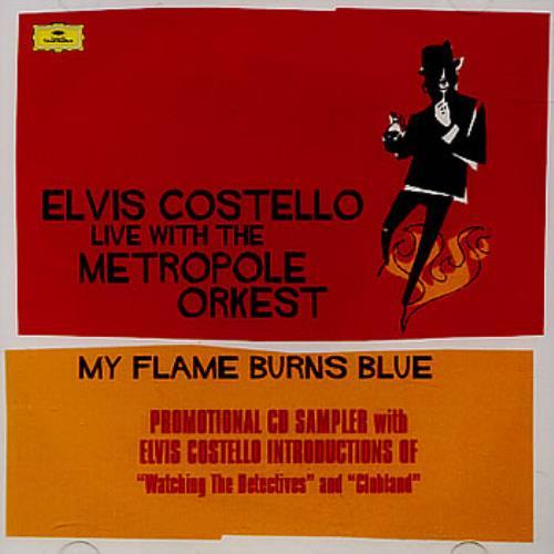 "Elvis Costello My Flame Burns Blue CD Sampler CD single (CD5 / 5"") US COSC5MY355663"