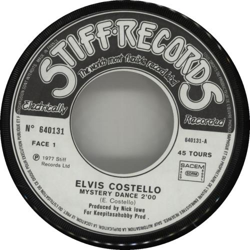 "Elvis Costello Mystery Dance 7"" vinyl single (7 inch record) French COS07MY284210"