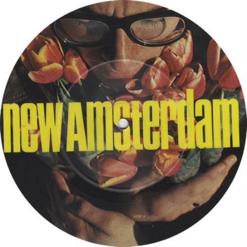 "Elvis Costello New Amsterdam - Black Rim 7"" vinyl picture disc 7 inch picture disc single UK COS7PNE63197"