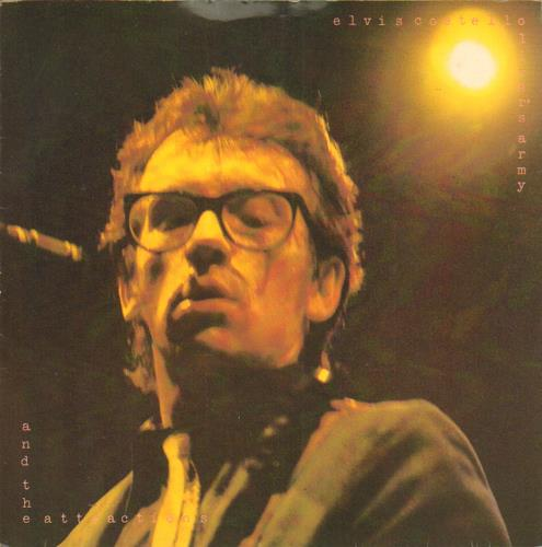 """Elvis Costello Oliver's Army - Solid + Sleeve 7"""" vinyl single (7 inch record) UK COS07OL654196"""
