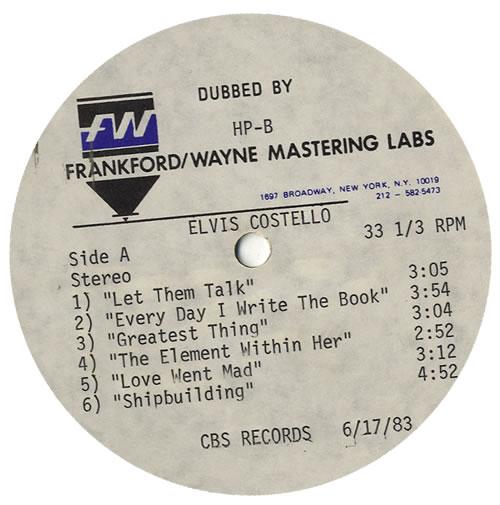 Elvis Costello Punch The Clock vinyl LP album (LP record) US COSLPPU564259