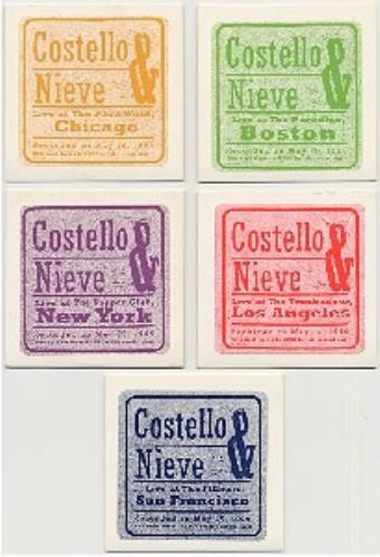 Elvis Costello Set Of 5 Live CDs 5-CD album set US COS5CSE84612