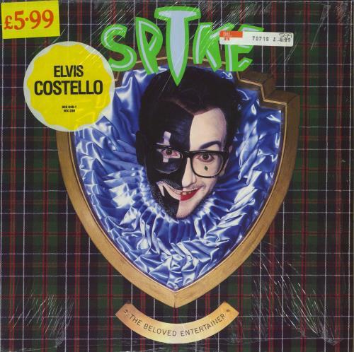 Elvis Costello Spike - Stickered Shrinkwrap vinyl LP album (LP record) UK COSLPSP647021