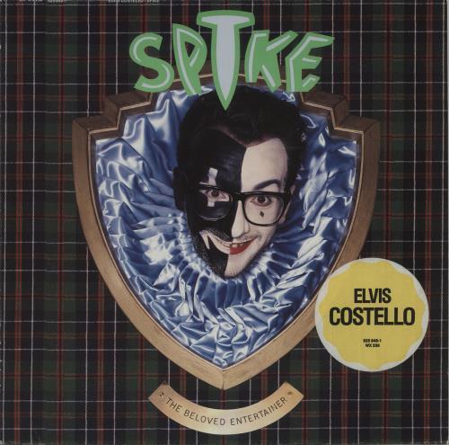 Elvis Costello Spike - Stickered Sleeve vinyl LP album (LP record) UK COSLPSP561803
