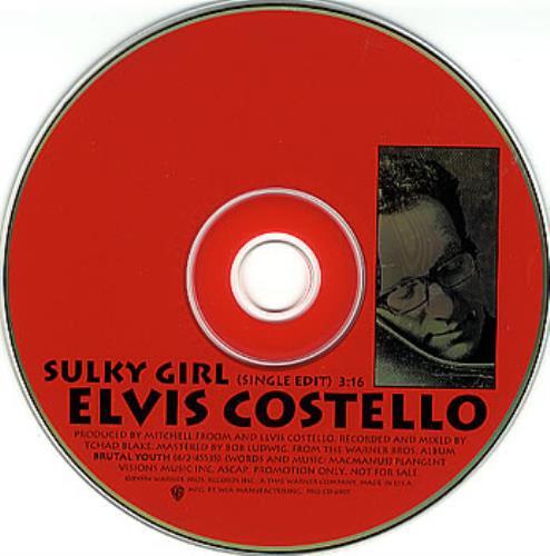 """Elvis Costello Sulky Girl CD single (CD5 / 5"""") US COSC5SU29044"""