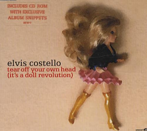 """Elvis Costello Tear Off Your Head (Its A Doll Revolution) CD single (CD5 / 5"""") UK COSC5TE212012"""