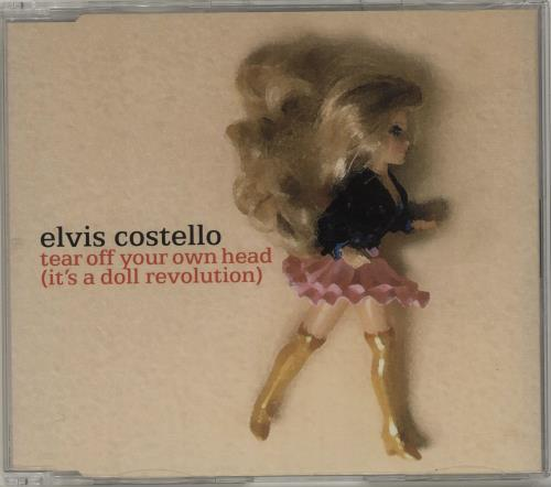"Elvis Costello Tear Off Your Own Head (It's A Doll Revolution) CD single (CD5 / 5"") UK COSC5TE686153"