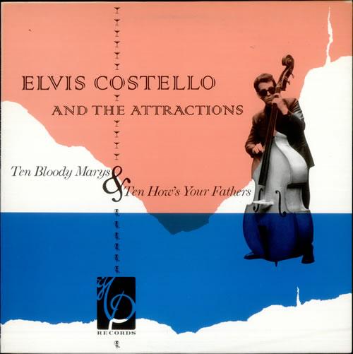 Elvis Costello Ten Bloody Marys & Ten How's Your Fathers vinyl LP album (LP record) UK COSLPTE315236