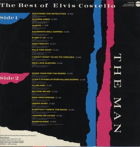 Elvis Costello The Best Of Elvis Costello - The Man vinyl LP album (LP record) UK COSLPTH231404