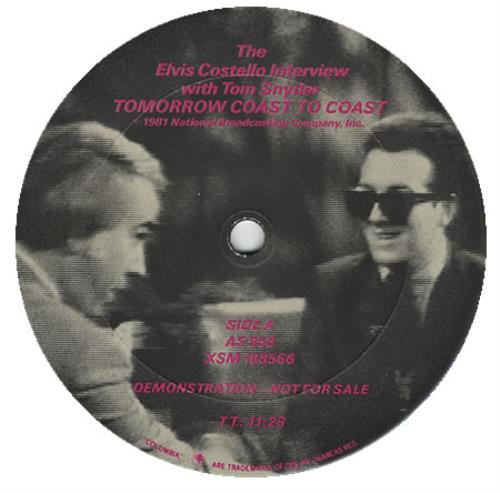 "Elvis Costello The Elvis Costello Interview With Tom Snyder 12"" vinyl single (12 inch record / Maxi-single) US COS12TH93092"
