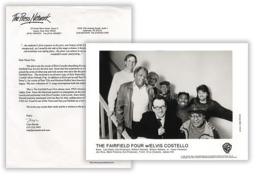Elvis Costello The Fairfield Four media press pack US COSPPTH388659