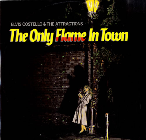 """Elvis Costello The Only Flame In Town 12"""" vinyl single (12 inch record / Maxi-single) UK COS12TH550233"""