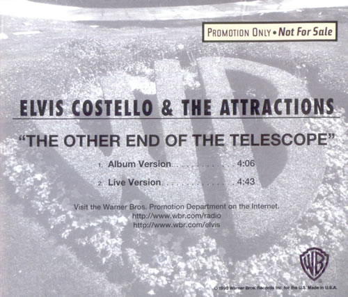 """Elvis Costello The Other End Of The Telescope CD single (CD5 / 5"""") US COSC5TH89094"""