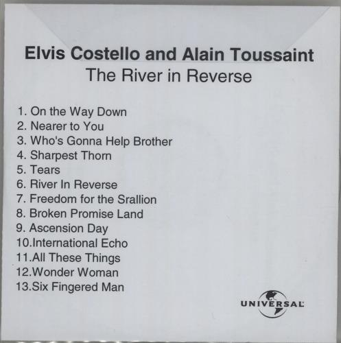 Elvis Costello The River In Reverse CD-R acetate UK COSCRTH378922
