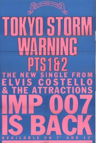 Elvis Costello Tokyo Storm Warning poster UK COSPOTO709936