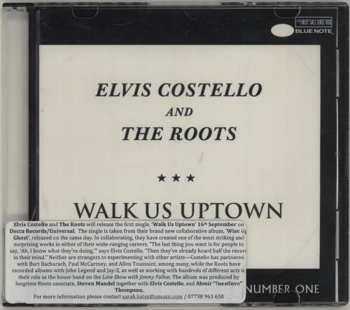 Elvis Costello Walk Us Uptown CD-R acetate UK COSCRWA686443