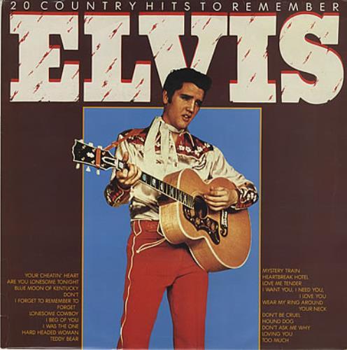Elvis Presley 20 Country Hits To Remember vinyl LP album (LP record) UK ELVLPCO377153