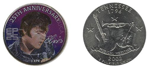 Elvis Presley 25th Anniversary Tennessee State Quarter