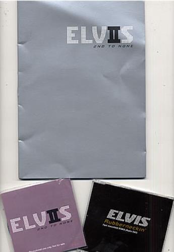 Elvis Presley 2nd To None media press kit UK ELVKIND263653
