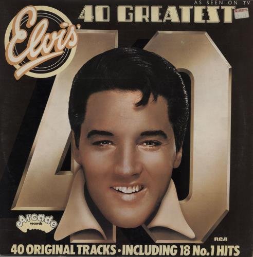 Elvis Presley 40 Greatest Hits - EX 2-LP vinyl record set (Double Album) UK ELV2LGR684352