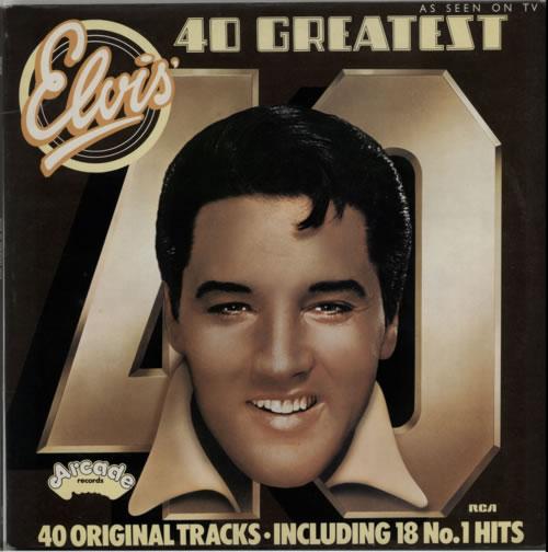 Elvis Presley 40 Greatest Hits 2-LP vinyl record set (Double Album) UK ELV2LGR238595