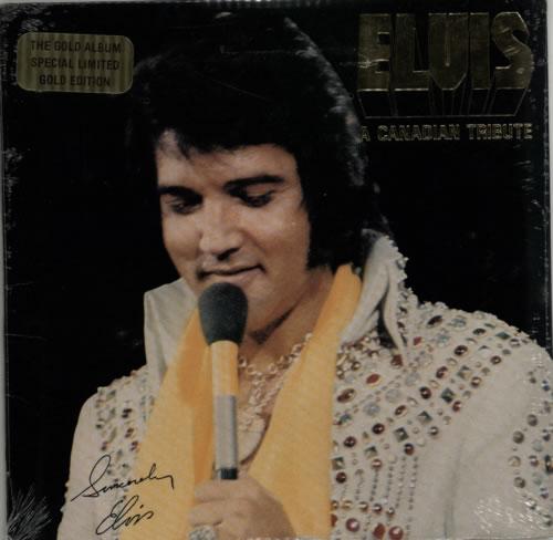 Elvis Presley A Canadian Tribute - Gold - Sealed vinyl LP album (LP record) Canadian ELVLPAC617756