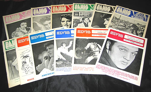 Elvis Presley A Collection Of Elvis Presley Fan Club Magazines fanzine UK ELVFAAC341219