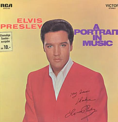 Elvis Presley A Portrait In Music - 1st vinyl LP album (LP record) German ELVLPAP210961