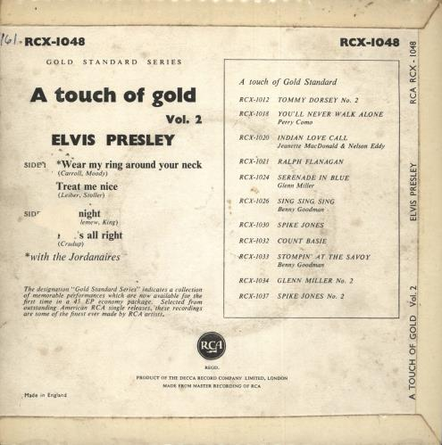 """Elvis Presley A Touch Of Gold Vol. 2 - 3rd 7"""" vinyl single (7 inch record) UK ELV07AT723222"""