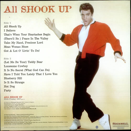 Elvis Presley All Shook Up - Red vinyl UK vinyl LP album (LP ...
