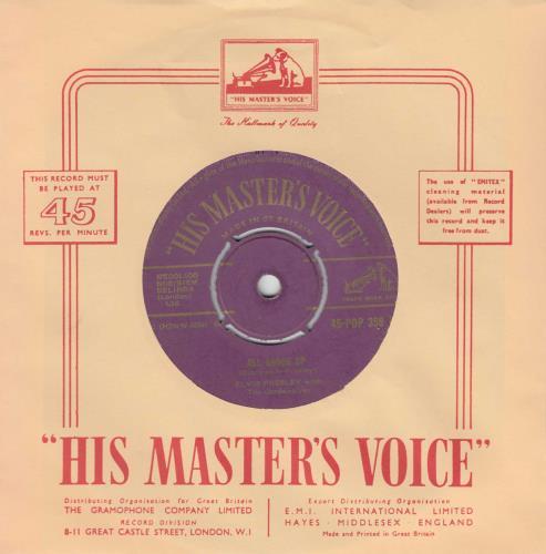 "Elvis Presley All Shook Up - 1st - P/O - VG 7"" vinyl single (7 inch record) UK ELV07AL185486"