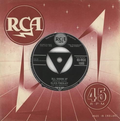 "Elvis Presley All Shook Up - 1st - VG 7"" vinyl single (7 inch record) UK ELV07AL739622"