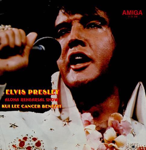 Elvis Presley Aloha Rehearsal Show German vinyl LP album (LP record) (343100)