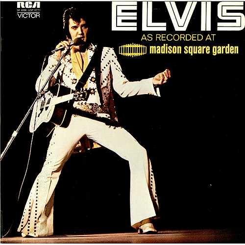Elvis Presley As Recorded At Madison Square Garden - laminated vinyl LP album (LP record) UK ELVLPAS411185