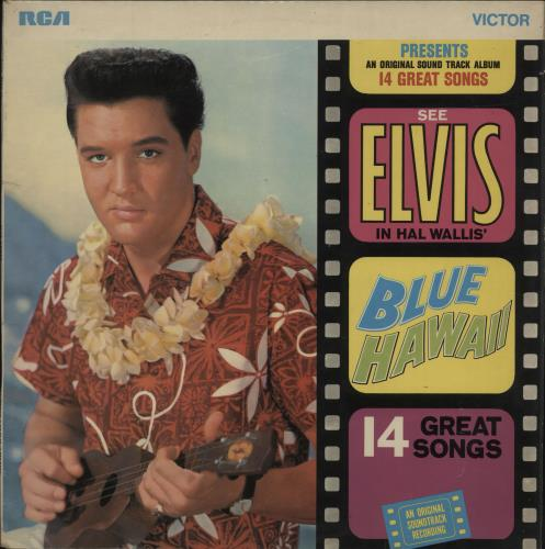 Elvis Presley Blue Hawaii Orange Label Uk Vinyl Lp Album