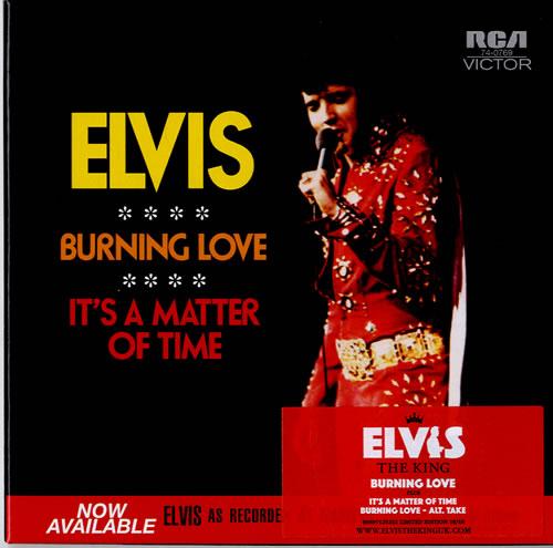 """Elvis Presley Burning Love CD single (CD5 / 5"""") UK ELVC5BU410789"""