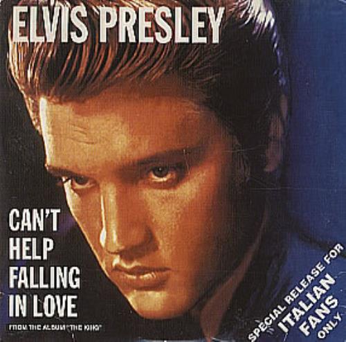 Elvis Presley Can 39 T Help Falling In Love Italian Cd Single