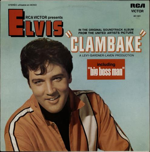 Elvis Presley Clambake vinyl LP album (LP record) French ELVLPCL764930