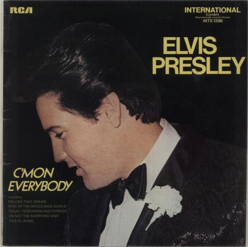 Elvis Presley C'Mon Everybody vinyl LP album (LP record) UK ELVLPCM238592
