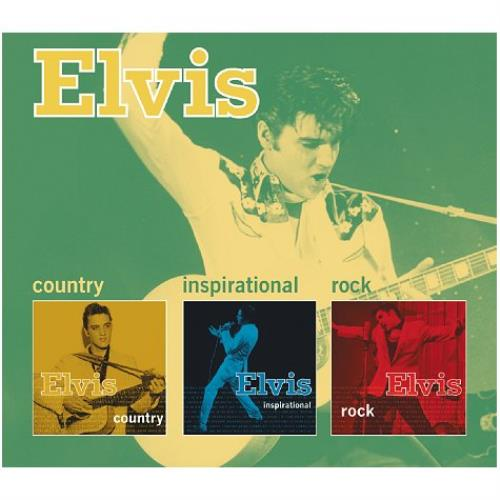 Elvis Presley Country Inspirational Rock UK 3 CD Album Set