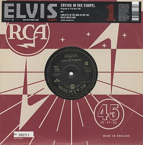"""Elvis Presley Crying In The Chapel [Numbered] 10"""" vinyl single (10"""" record) UK ELV10CR322003"""
