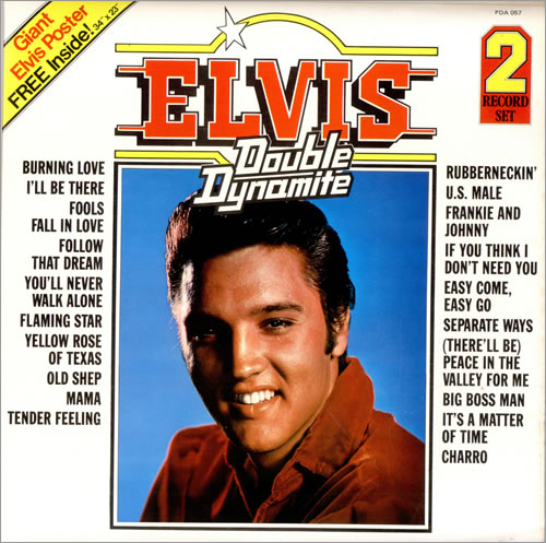 Elvis Presley Double Dynamite + Poster 2-LP vinyl record set (Double Album) UK ELV2LDO63324