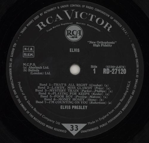 Elvis Presley Elvis - 1st/2nd Transitional - VG vinyl LP album (LP record) UK ELVLPEL758680