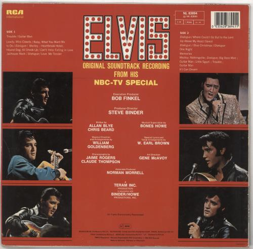 Elvis Presley Elvis - TV Special - Stickered Sleeve vinyl LP album (LP record) German ELVLPEL736971