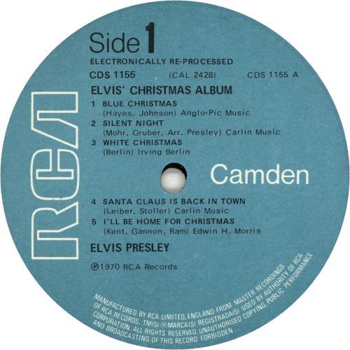 Elvis Christmas Album Vinyl.Elvis Presley Elvis Christmas Album Uk Vinyl Lp Album Lp Record