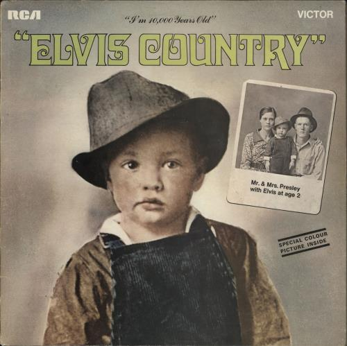 Elvis Presley Elvis Country + print vinyl LP album (LP record) UK ELVLPEL210063
