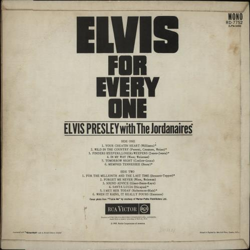 Elvis Presley Elvis For Everyone - Red Spot - VG vinyl LP album (LP record) UK ELVLPEL607046