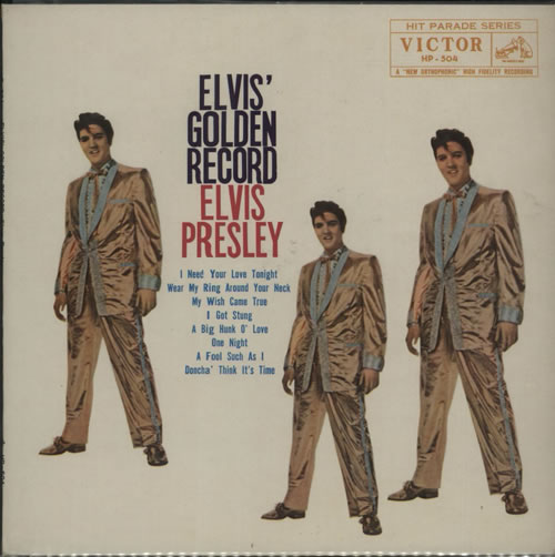 "Elvis Presley Elvis' Golden Record 10"" vinyl single (10"" record) Japanese ELV10EL627905"